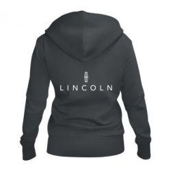 Женская толстовка на молнии Lincoln logo