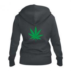 Жіноча толстовка на блискавці Листочок марихуани
