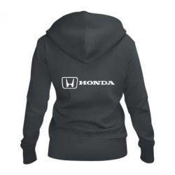 Женская толстовка на молнии Логотип Honda