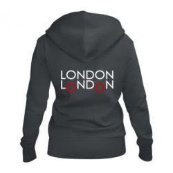 Женская толстовка на молнии London - FatLine