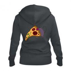 Женская толстовка на молнии Love Pizza 2