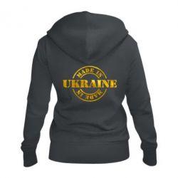 Женская толстовка на молнии Made in Ukraine Голограмма