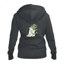 Женская толстовка на молнии Master Yoda