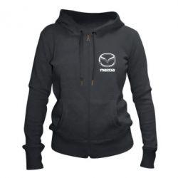 Жіноча толстовка на блискавці Mazda Logo