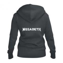 Женская толстовка на молнии Megadeth