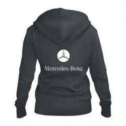 Женская толстовка на молнии Mercedes-Benz Logo