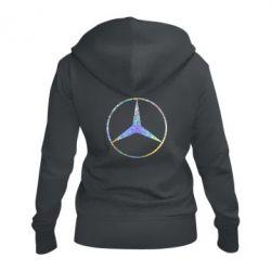Жіноча толстовка на блискавці Mercedes Лого Голограма