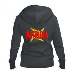 Жіноча толстовка на блискавці Логотип Metallica