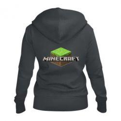 Женская толстовка на молнии Minecraft Land