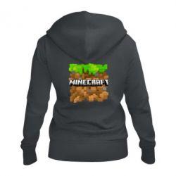Жіноча толстовка на блискавці Minecraft Main Logo