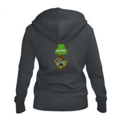 Жіноча толстовка на блискавці Minecraft Steve
