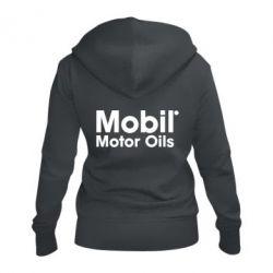 Женская толстовка на молнии Mobil Motor Oils