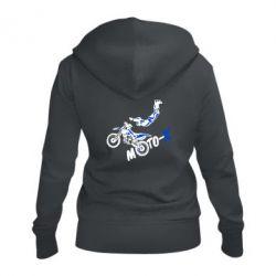Женская толстовка на молнии Moto-X
