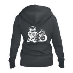 Женская толстовка на молнии Мотоциклист - FatLine