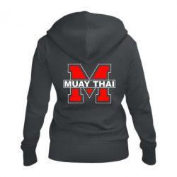 Женская толстовка на молнии Muay Thai Big M - FatLine