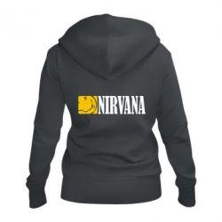 Женская толстовка на молнии Nirvana смайл