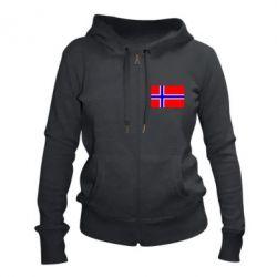 Жіноча толстовка на блискавці Норвегія