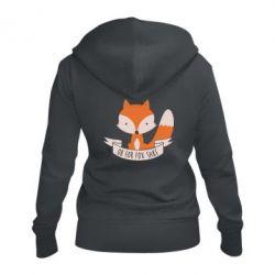 Женская толстовка на молнии Of for fox sake - FatLine
