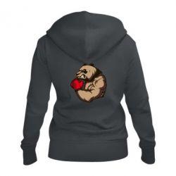Женская толстовка на молнии Panda Boxing
