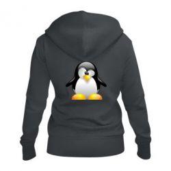 Жіноча толстовка на блискавці Пінгвін