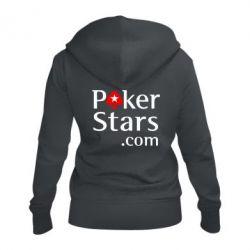 Женская толстовка на молнии Poker Stars