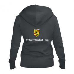 Женская толстовка на молнии Porsche - FatLine