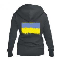 Жіноча толстовка на блискавці Потертий прапор України