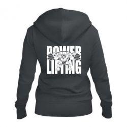 Жіноча толстовка на блискавці Powerlifting logo