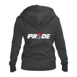 Жіноча толстовка на блискавці Pride