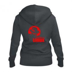 Женская толстовка на молнии Redhat Linux - FatLine