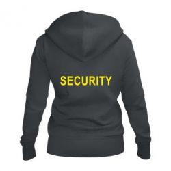 Женская толстовка на молнии Security