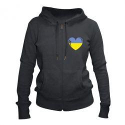 Жіноча толстовка на блискавці Серце України