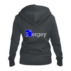 Женская толстовка на молнии Sergey