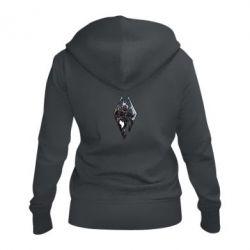 Женская толстовка на молнии Skyrim Logo