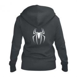 Женская толстовка на молнии Spider Man Logo - FatLine