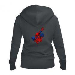 Женская толстовка на молнии Spiderman - FatLine