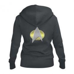 Жіноча толстовка на блискавці Star Trek Gold Logo - FatLine