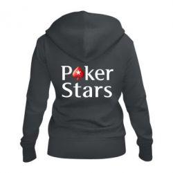 Жіноча толстовка на блискавці Stars of Poker