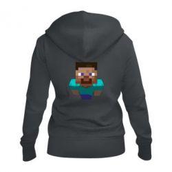 Женская толстовка на молнии Steve from Minecraft
