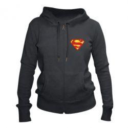 Женская толстовка на молнии Superman Classic