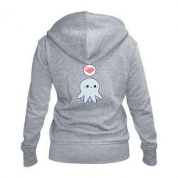 Женская толстовка на молнии Sweet Octopus