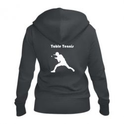Жіноча толстовка на блискавці Table Tennis Logo