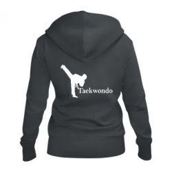 Женская толстовка на молнии Taekwondo