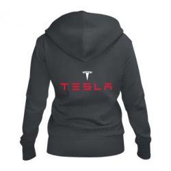 Женская толстовка на молнии Tesla