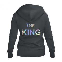 Женская толстовка на молнии The King