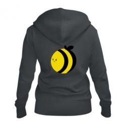 Женская толстовка на молнии толстая пчелка