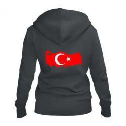 Женская толстовка на молнии Turkey