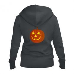 Жіноча толстовка на блискавці Тыква Halloween