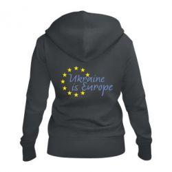 Жіноча толстовка на блискавці Ukraine in Europe