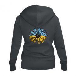 Жіноча толстовка на блискавці Українська квітка